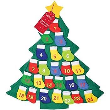 Aytai Felt Christmas Tree Advent Calendar for Kids, Countdown to ...