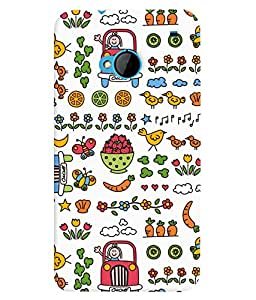 TOUCHNER (TN) Colorful Life Back Case Cover for HTC One M7::HTC M7