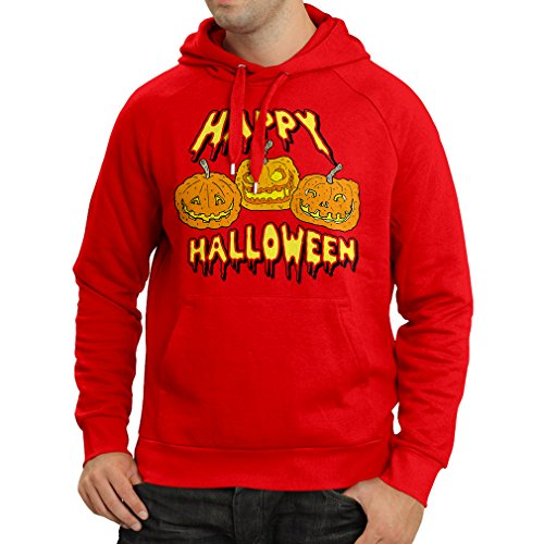 lepni.me Kapuzenpullover Happy Halloween! Party Outfits & Costume - Gift Idea (XX-Large Rot Mehrfarben) (Halloween Ideen Für Vier Personen)