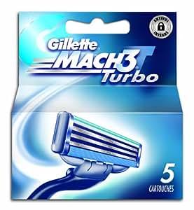 Gillette - 80201239 - Mach3 Turbo - Pack de 5 Lames