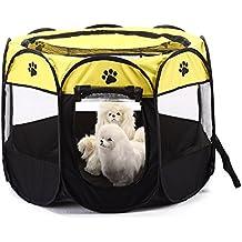 Parque para mascotas Bworppy: tienda de campaña plegable, resistente al agua, con pantalla