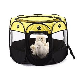 tienda mascotas: Parque para mascotas Bworppy: tienda de campaña plegable, resistente al agua, co...