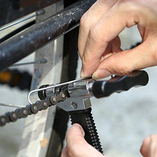 Fahrrad Ketten Werkzeug, Aodoor Werkzeug Kettennietdrücker, Kettennieter für Fahrrad Ketten Entferner Werkzeug, schwarz - 6