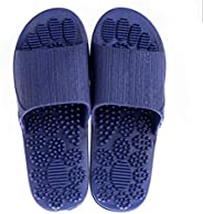 Couple Massage Slides Sandals Non-Slip Outdoor Indoor Athletic Bathroom Gym Shower Slippers 7.5US blue