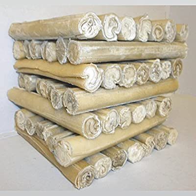 """Rawhide Dog Chews Cigar Rolls Made In Thailand for UK Pet Pro 5"""" x 15mm or 10"""" x 15mm Thick Best Quality Rawhide"""