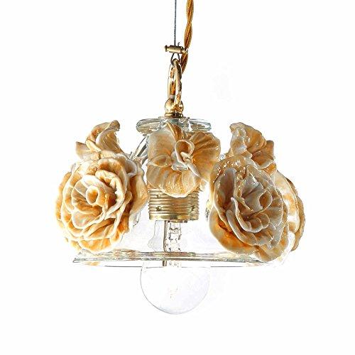 Il Paralume Marina Murano Glas Glas Hängeleuchte Ariel in Gold | Handgefertigt in Italien | Pendelleuchte Klassisch - Murano Glas Hängeleuchte