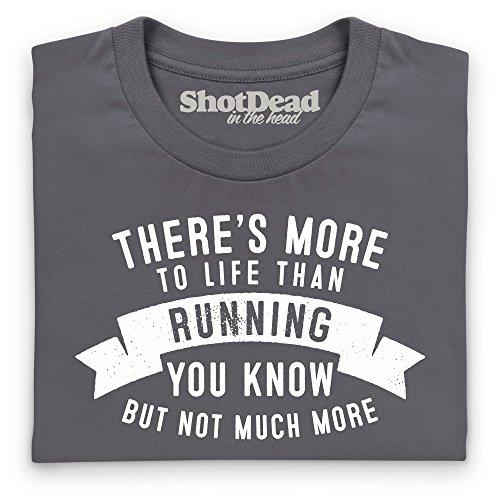 More To Life - Running T-Shirt, Damen Anthrazit