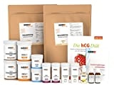 60 Tage hCG-Diät Set mit Molkenprotein WPC 80 | hCG Aktivator | Buch | Aromatropfen (vanille)