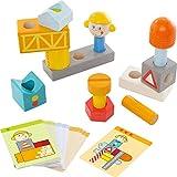 Haba 302924 Steckspiel Auf der Baustelle, Kleinkindspielzeug
