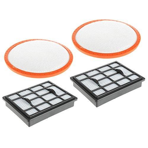 Spares2go HEPA H12 Filter Pad Kit zur Stromversorgung von Vax Total Home 6 C88 - P6-T C89 - P6N - T von 2 Flach Wischer Satz Set Premium
