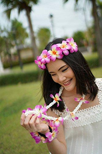 Absolute-Belleza-Boda-Prom-Corona-de-Pelo-Mujer-Floral-DiademaMuecaGuirnalda-Orqudea-Conjunto-de-Flores-Tela-Prpura-35-x-25-x-25-cm