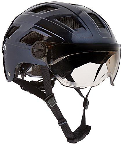 Abus Erwachsene Hyban + Fahrradhelm, Midnight Blue-Smoke Visor, L (56-63 cm)