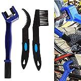 CricTeQleap Radfahren Zubeh?r, 3 St¨¹cke Radfahren Fahrrad Reifenkette Kurbelgarnitur Kunststoff Pinsel Set Reinigungswerkzeug