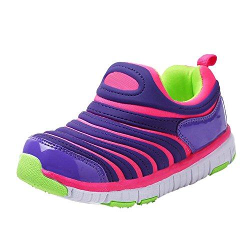 Meijunter Respirável Rosa Execução Casuais Crianças Elasticidade Moda Sneakers Criança TxSrFxndz