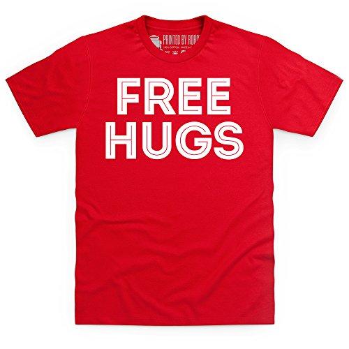 Free Hugs T-Shirt, Herren Rot