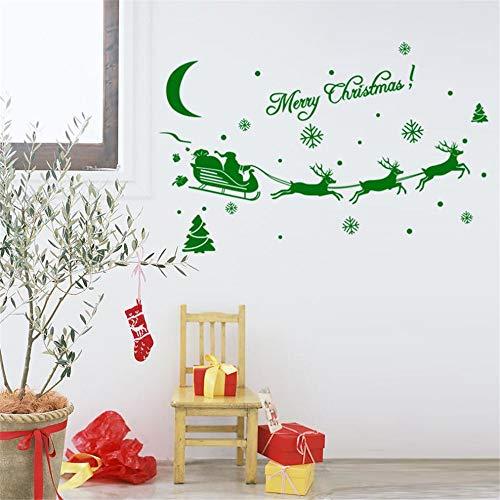 GJQFJBS Adhesivos de pared navideños Adhesivo de decoración Adhesivos para ventana...
