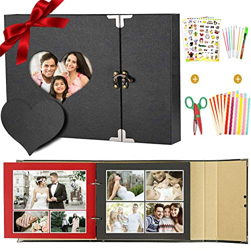 SPECOOL Album Foto,Album Fotografici, Album Fotografico Pagine Nere Fai da Te Perfetto Regalo Anniversario,Natale,San Valentino,...