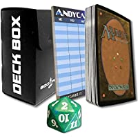 """Complete Set FOIL of all 25 Basic Land Cards from """"Battle for Zendikar"""" in ITALIAN - MTG Magic the Gathering + Black God-Player Deck-Box + Andycards Scorepad + Spindown Dice Life Counter"""