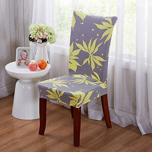 1/2/4/6 Stücke Blumendruck Esszimmerstuhlbezüge Elastische Abnehmbare Hotel Bankett Slipcovers Color 2 2pcs Chair Covers