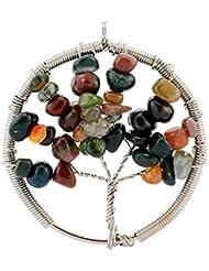 Contever® Colgantes de Joyas de Ágatade laIndiaNaturalVida árbol De La Collar del Encanto para las Niñas y las Mujeres