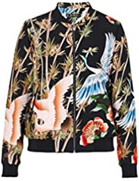 Hallhuber Satin Blouse with All-Over Print