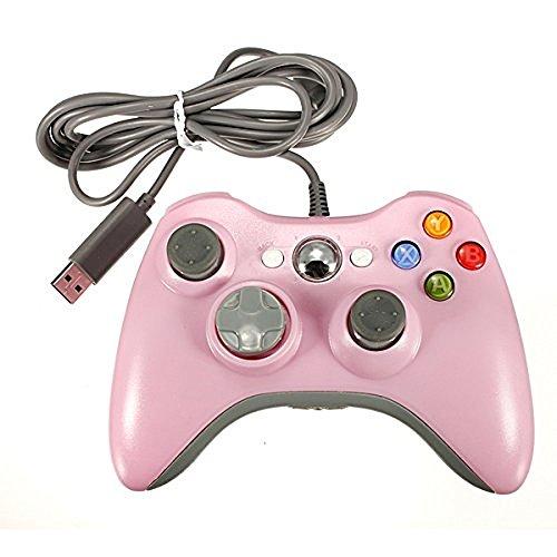 Xbox 360Wired Controller, yudeg Wired USB Game Controller Gamepad Joystick für Microsoft Xbox & Slim 360PC Windows 7 Rosa Rose (Rosa Für Xbox 360 Konsole)