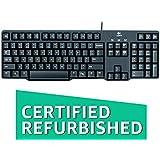 (CERTIFIED REFURBISHED) Logitech K100 Classic PS/2 Wired Keyboard (Black)
