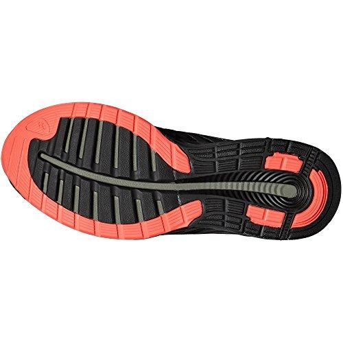 Asics Fuzex, Chaussures de Running Compétition Femme Aluminum/Flash Coral/Black