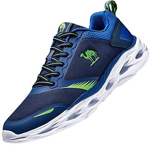CAMEL Herren Turnschuhe Fitnessschuhe Sportschuhe Atmungsaktiv Laufschuhe Ultraleicht Gym Turnschuhe (45 EU=9 UK=Fußlänge 27.5cm, Blau)