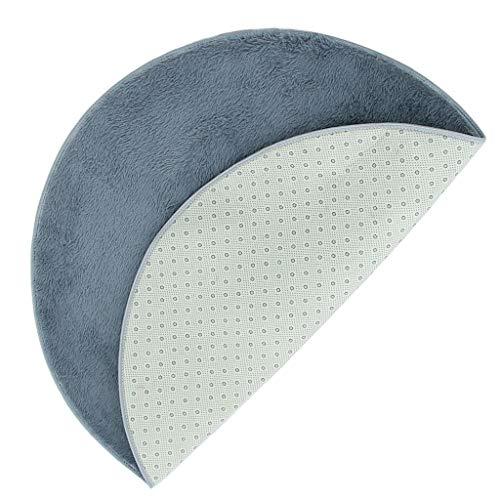 perfk 1 Stück Trommel Teppich Runde Teppiche, Schlafzimmer Drums -Matten Drum Decke Teppich - 1.6m grau