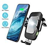SONRU Newest Wireless Car Charger, Touch Sensor Automatic Clamping Car Phone Holder Qi Car Fast Wireless Charging for iPhone XS/XS Max/XR/X/8/8+, Galaxy S10/S10+/Note 9/S9/S9+/S8/S8+