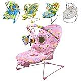 Monsieur Bébé ® Hamaca para bébé vibrante y musical + Barra de juguetes y Asiento reclinable - 5 modelos - Norma EN 12790