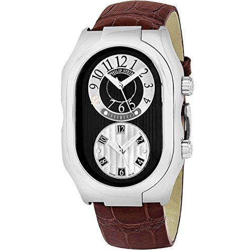 Philip Stein Prestige Homme Bracelet Cuir Marron Quartz Montre 12-BGR-ABR