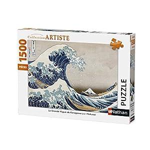 Nathan-Puzzle La Gran Ola De Kanagawa 1500Piezas, 87792