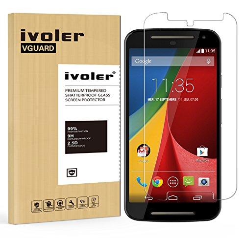 Foto iVoler Pellicola Vetro Temperato per Motorola Moto G2 (2 Generazione) 2014 [Garanzia a Vita], Pellicola Protettiva, Protezione per Schermo
