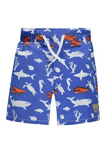 Steiff Baby-Jungen Badeshorts Surf Bermudas, Blau (Dazzling Blue 3088), 80