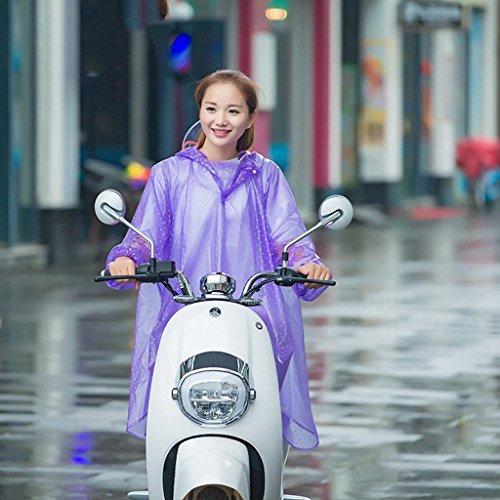FUHOAHDD Erwachsene Motorrad Poncho, Outdoor Regenmantel PVC Pvc-poncho