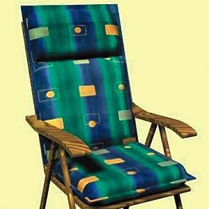 SUN GARDEN -20120 Auflage für Sessel, niedrig Dessin Porto 20120-2