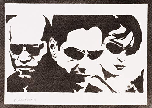 The Matrix Neo Trinity und Mopheus Poster Plakat Handmade Graffiti Street Art - Artwork (Trinity Matrix Neo)