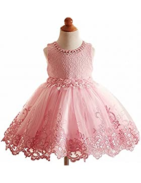 Vestidos de encaje con flores corte princesa para niñas para bodas, concursos de belleza, cumpleaños fiestas,...