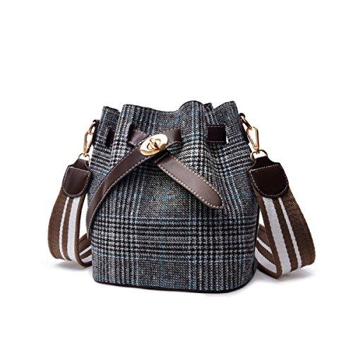 HAOXIAOZI Damen-Beuteltasche Messenger Bag Fashion Bag Portable Umhängetasche,Black