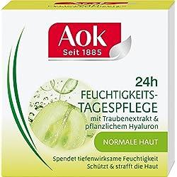 Aok 24h Feuchtigkeits-Tagespflege mit Traubenextrakt & pflanzlichem Hyaluron, 1er Pack (1 x 50 ml)