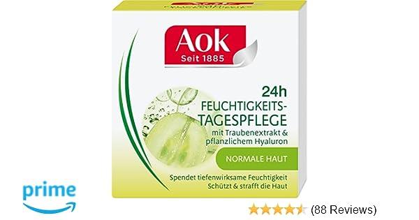 Aok 24h Feuchtigkeits Tagespflege Mit Traubenextrakt Pflanzlichem Hyaluron 1er Pack 1 X 50 Ml