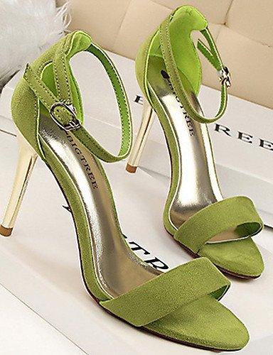 WSS 2016 Chaussures Femme-Décontracté / Soirée & Evénement-Noir / Vert / Rose / Rouge / Argent / Gris / Or-Talon Aiguille-Talons-Talons-Velours black-us8 / eu39 / uk6 / cn39