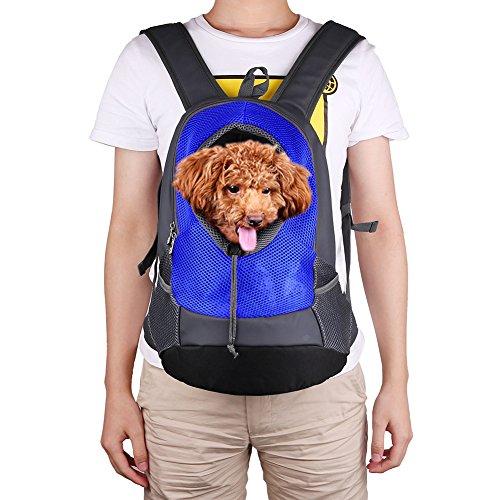 Träger Pet Tasche Hund Rucksack für kleine medium für Outdoor Reisen vorne Stück Hund Katze Reisetasche Rucksack geeignet für Haustiere bis 5kg (L, blau) (Pet-träger Klein)