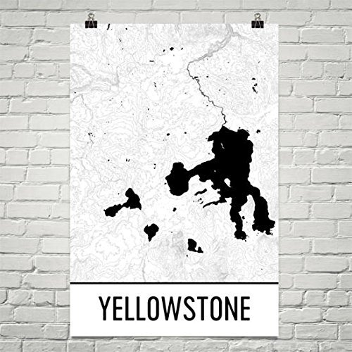 Carte De Moderne Art Dimpression Parc National Yellowstone Poster