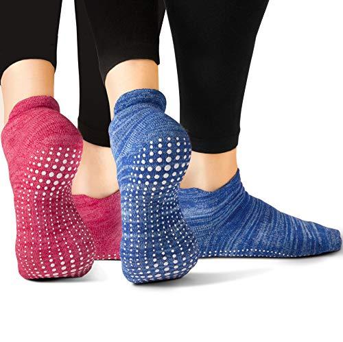 LA Active Calcetines Antideslizantes - Para Yoga Pilates Ballet Barre