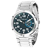 James Tyler Men's watch, quartz movement, stainless steel band brushed 703–2 Jt