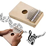 Kalimba Daumenklavier, Everesta 10 Schlüssel Mbira Hohl Kiefer Bildung Spielzeug Musikinstrument für Musikliebhaber und Anfänger (Holz Farbe)