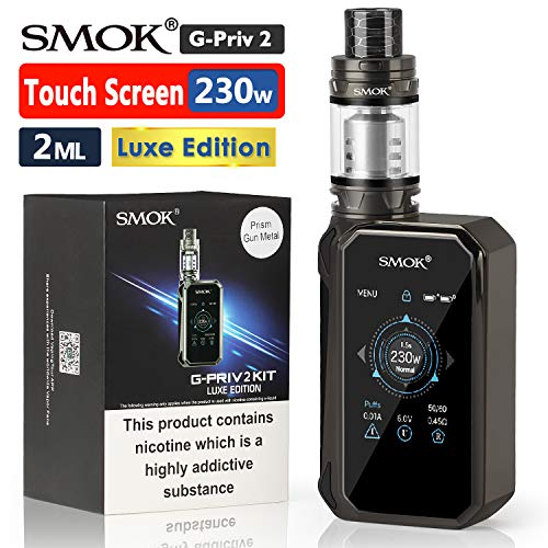 "Ufficiale SMOK G Priv 2 230W Luxe Edition Sigaretta Elettronica Kit Completo, TFV12 P-Tank (Prince) 2ml Svapo Advanced Kit, 2"" HD Touch Screen, VW Temp Control Vapore Senza Nicotina - Prism GunMetal"